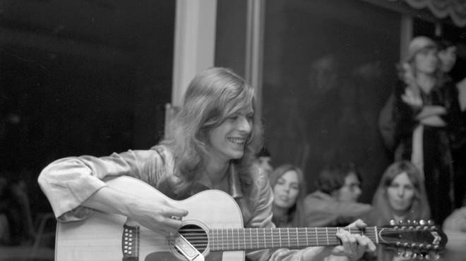 David Bowie at a party in 1971