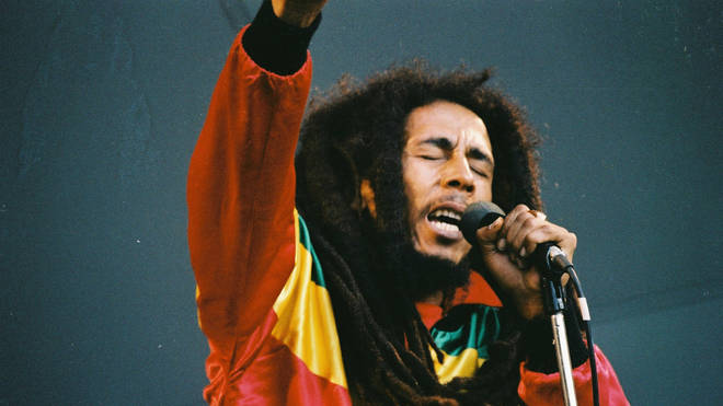 Bob Marley performs in London