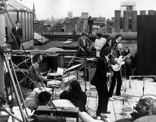 The Beatles final live performance up on the roof