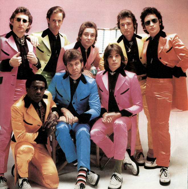 Al James (back, far right) in Showaddywaddy