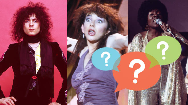 Marc Bolan, Kate Bush and Gloria Gaynor