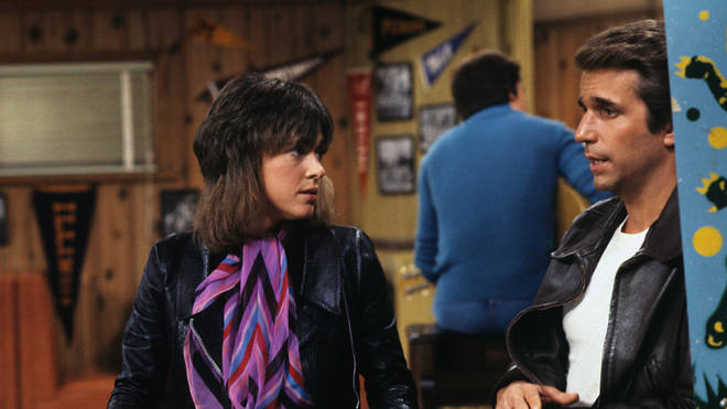 Leather Tuscaderedo and Fonzie in Happy days