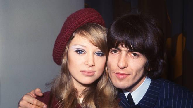 Newlyweds Patti Boyd and George Harrison