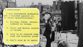 Beatles rooftop gig and Paul McCartney's letter