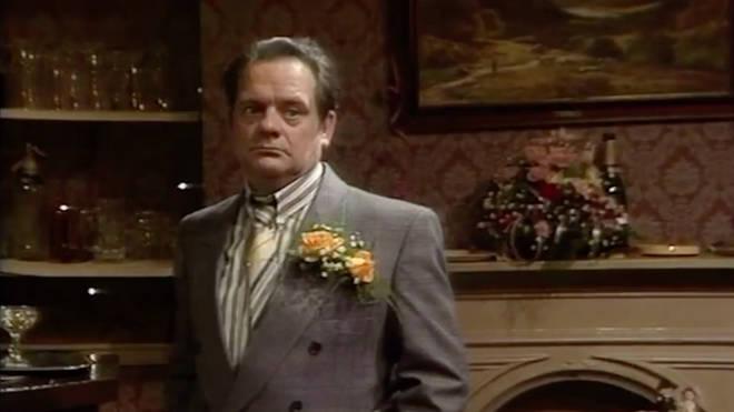 Del Boy at Rodney's wedding reception