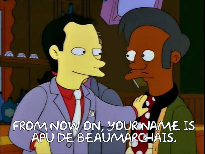 Apu gets a new name in The Simpsons