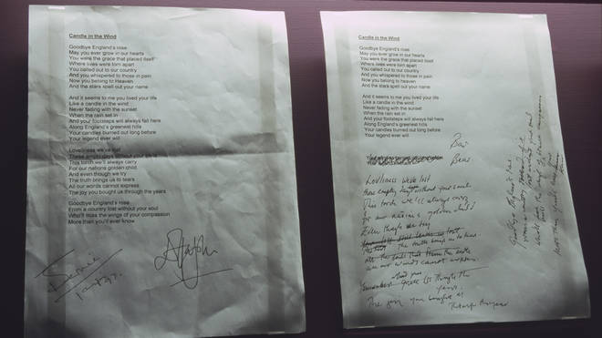 The rewritten lyrics for 'Candle in the Wind 1997'