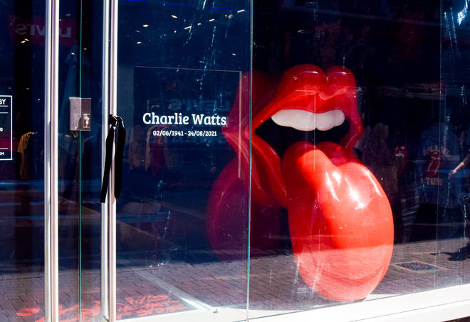 The Rolling Stones store in London pays tribute to Charlie Watts