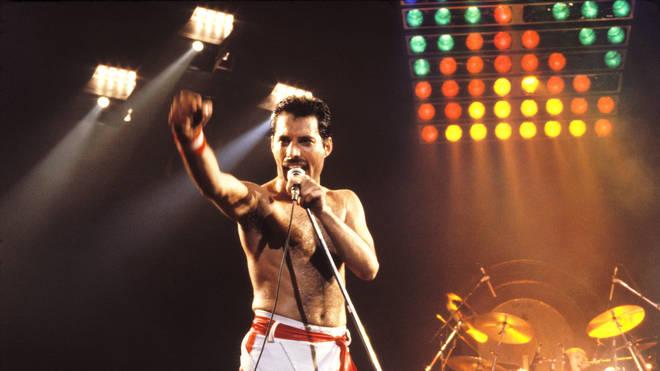 Freddie Mercury with Queen