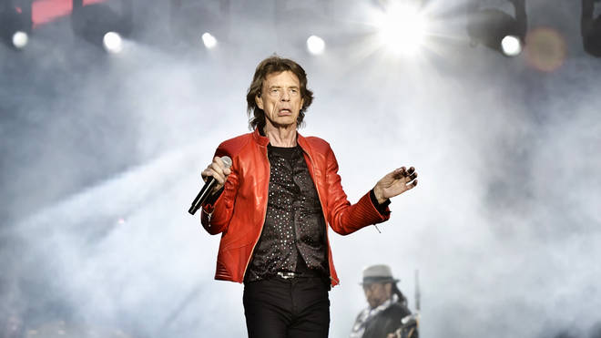 Mick Jagger in concert with The Rolling Stones