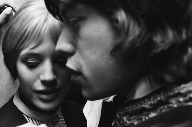 Marianne Faithful and Mick Jagger in 1967