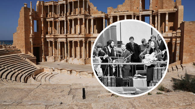 The Beatles on the rooftop in Sabratha, Libya