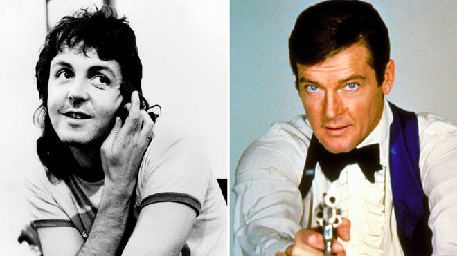 Paul McCartney recorded the theme tune for Roger Moore's 'Live and Let Die'