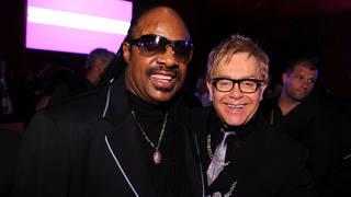 Stevie Wonder and Elton John in 2008