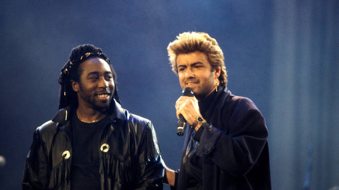 Deon Estus with George Michael