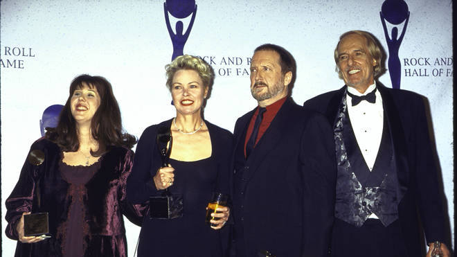 Owen Elliot (Mama Cass's daughter), Michelle Phillips, Denny Doherty and John Phillips