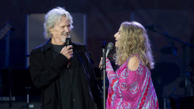 Barbra Streisand and Kris Kristofferson