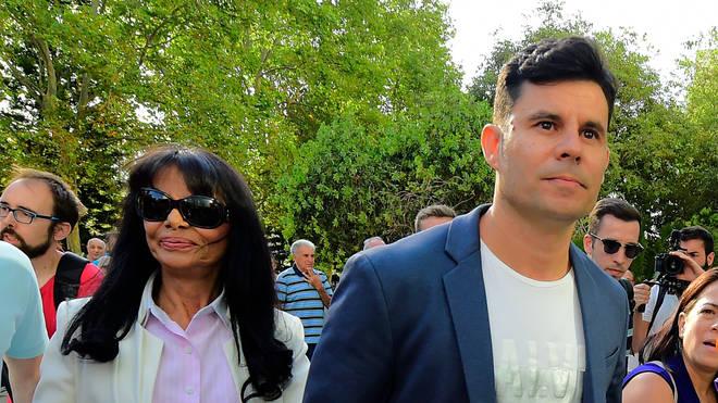 Javier Sanchez and Maria Edite Santos arrive at court