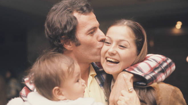 Julio Iglesias and his family in 1975