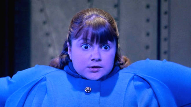 Denise Nickerson as Willy Wonka & The Chocolate Factory's Violet Beauregarde