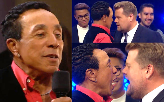 Smokey Robinson 'fights' James Corden in epic soul music battle