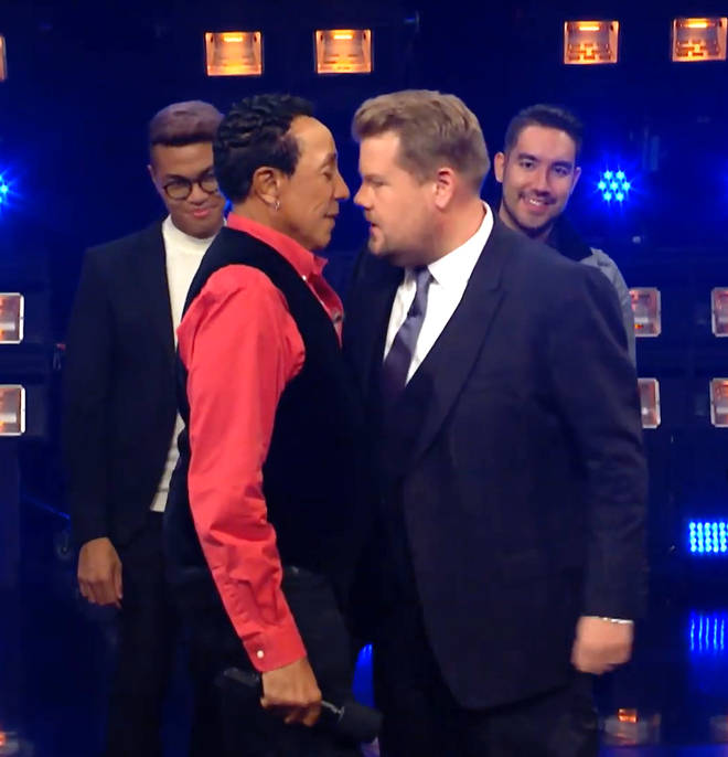 Smokey Robinson and James Corden disagreed on their should music tastes