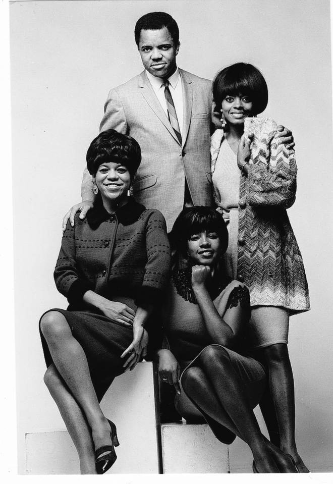 Berry Gordy Jr and the Supremes in 1965
