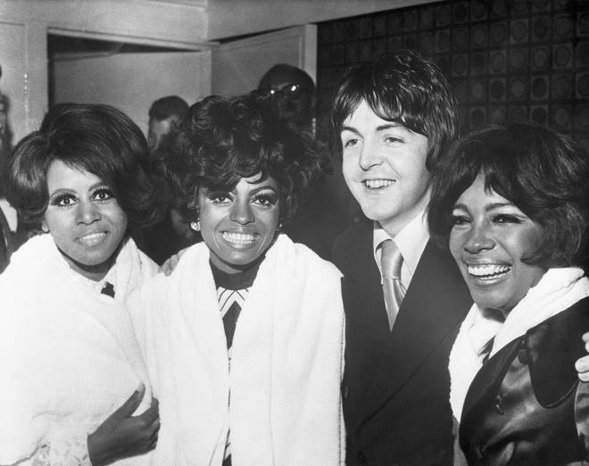 The Supremes with Paul McCartney