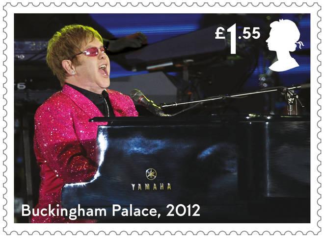 Elton John's Buckingham Palace stamp