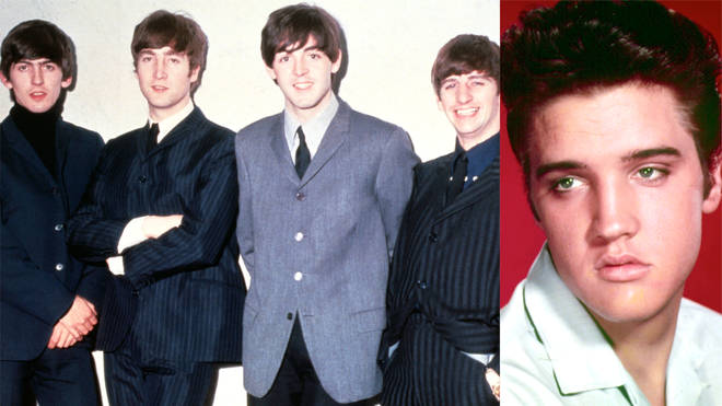 The Beatles and Elvis Presley in 1965