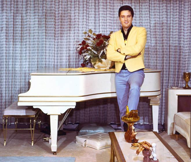 Elvis Presley at home in 1965