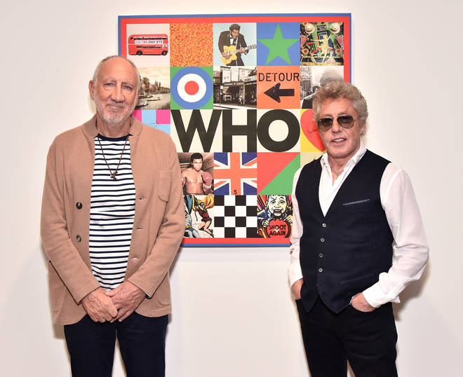 The Who: Pete Townshend and Roger Daltrey reveal Sir Peter Blake designed new album cover at Pace Gallery