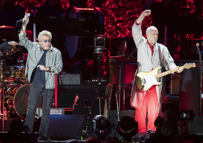 The Who: Roger Daltrey and Pete Townshend performing in Boston