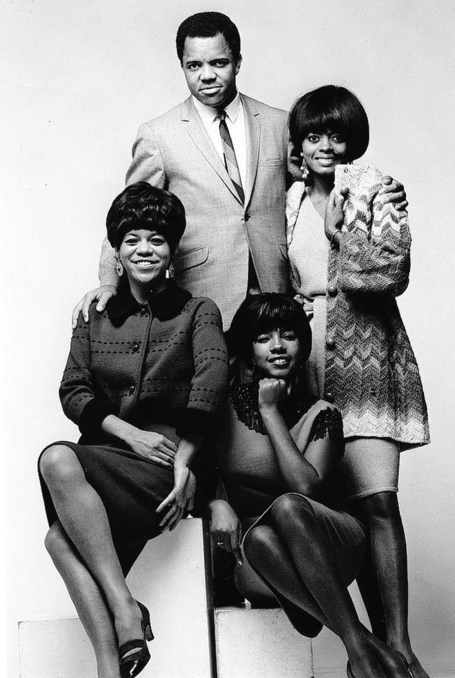 Berry Gordy Jr. with The Supremes in 1965