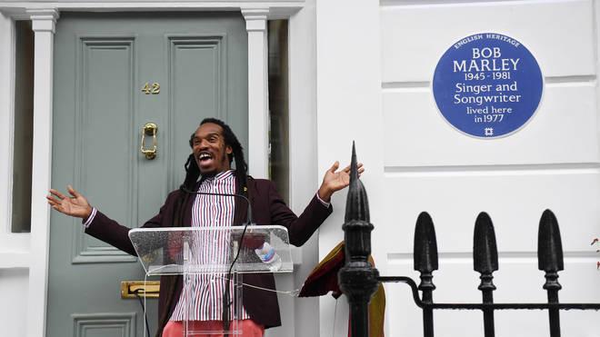 Benjamin Zephaniah unveils Bob Marley's plaque