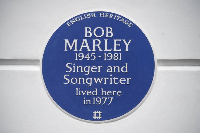 Bob Marley plaque