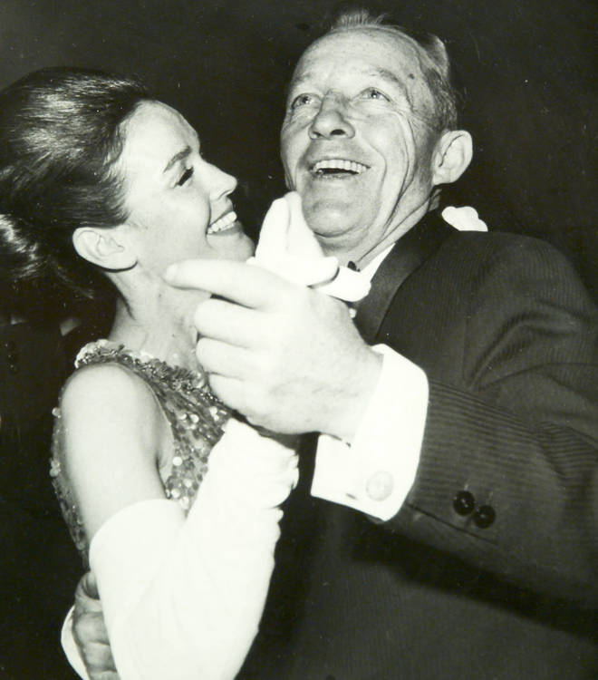 Kathryn Crosby with her late husband Bing