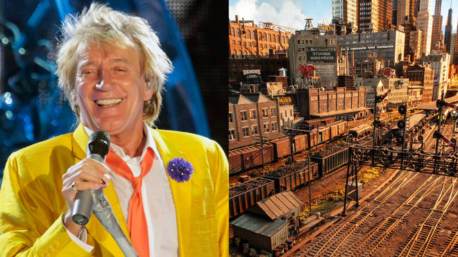 Rod Stewart unveils his epic model railway after 26 years in the making