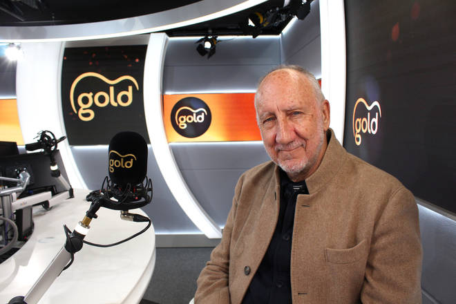 The Who's Pete Townshend in the Gold Radio studio