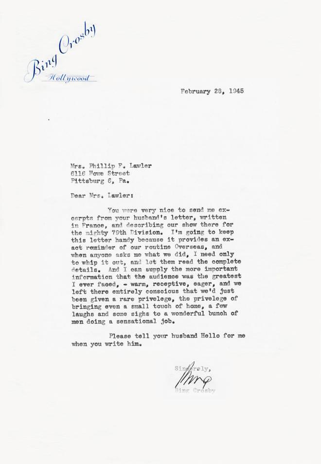 Bing Crosby letter